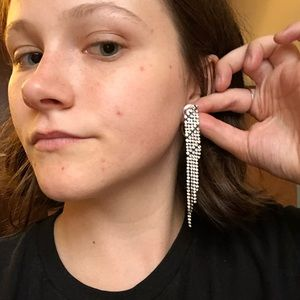 Sparkly Rhinestone Duster Earrings
